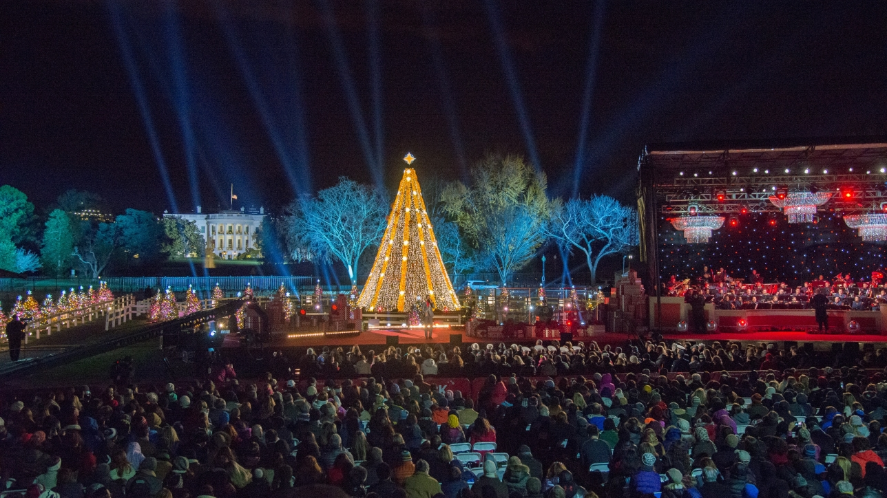 The 2015 lighting of the National Christmas Tree, Thursday, December 3, 2015 on the Ellipse in Washington, DC.